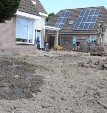 grondwerk in de tuin